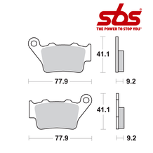 SBS 675 Brake Pad Kit