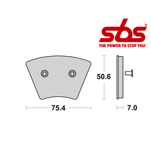 SBS 679 Brake Pad Kit