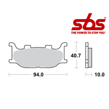 SBS 691 Brake Pad Kit