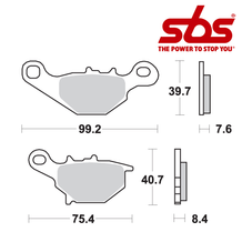 SBS 702 Brake Pad Kit