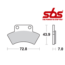 SBS 717 Brake Pad Kit