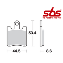 SBS 740 Brake Pad Kit