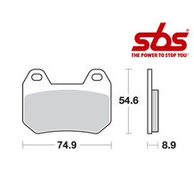 SBS 746 Brake Pad Kit