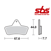 SBS 758 Brake Pad Kit