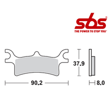 SBS 787 Brake Pad Kit