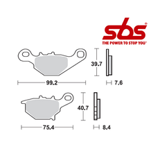SBS 820 Brake Pad Kit