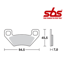 SBS 800 Brake Pad Kit