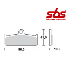 SBS 802 Brake Pad Kit