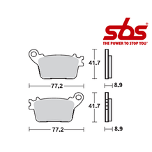 SBS 834 Brake Pad Kit