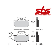 SBS 810 Brake Pad Kit