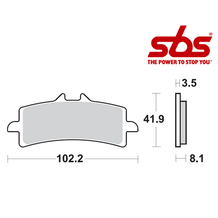 SBS 814 Brake Pad Kit