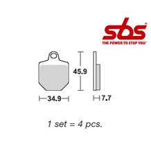 SBS 816 Brake Pad Kit