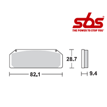 SBS 845 Brake Pad Kit