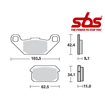 SBS 848 Brake Pad Kit