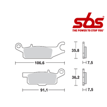 SBS 850 Brake Pad Kit