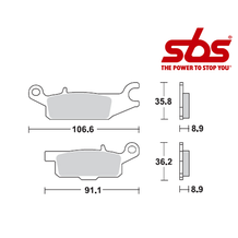 SBS 852 Brake Pad Kit