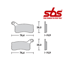SBS 866 Brake Pad Kit