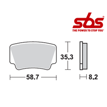SBS 867 Brake Pad Kit