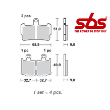 SBS 869 Brake Pad Kit