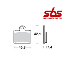 SBS 872 Brake Pad Kit