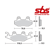 SBS 878 Brake Pad Kit