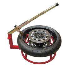 Biketek Motorcycle Tyre Changer In Use