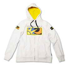 Ladies Zip Fleece Hoodie Rossi 46 White