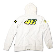 Ladies Zip Fleece Hoodie Rossi 46 White Back