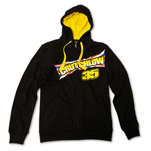 Mens Zip Fleece Hoodie Crutchlow 35 Black
