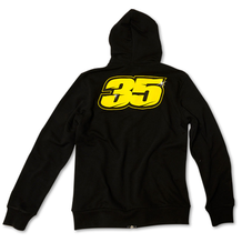 Mens Zip Fleece Hoodie Crutchlow 35 Black Back