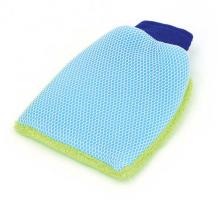 2 in 1 Microfibre Wash Mitten Sponge Mesh