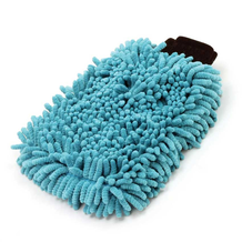 2 in 1 Long Pile Wash Mitten Sponge
