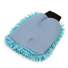2 in 1 Long Pile Wash Mitten Sponge Back