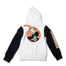 Kids Zip Fleece Hoodie Pedrosa 26 White Back