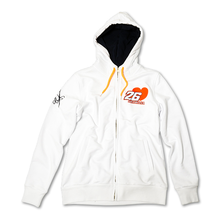 Ladies Zip Fleece Hoodie Pedrosa 26 White