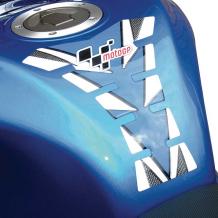 MotoGP Tank Pad - Blue & Carbon