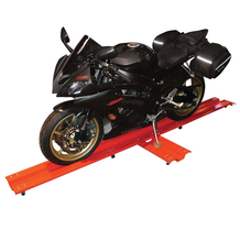 Motorcycle Mover On Castors In Use