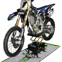 Motocross Scissor Lift In Use