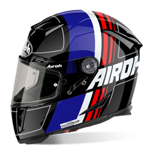 AIROH Helmet GP500 Full Face Motorcycle Helmet - Scrape Black Gloss