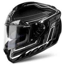 AIROH ST 701 Full Face Motorcycle Helmet - Safety Full Carbon White Gloss