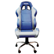 BikeTek Suzuki Team Chair Blue With Silver Trim