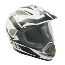 GSB Adventure Dual Sport Helmet - XP14A - Black / White