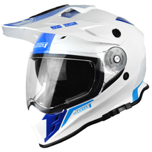 JUST1 J34 Shape Adventure Crash Helmet - Neon Blue