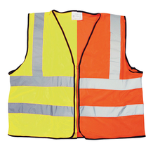 Reflective HI-VIZ Bib Vest - Orange or Yellow