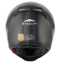 Stealth All Carbon Full Face Road Helmet - HD117 - Carbon back