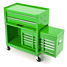 Rolling Tool Cabinet With Top Chest in Use