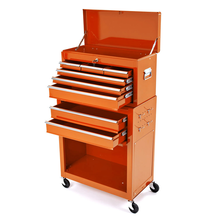 Rolling Tool Cabinet With Top Chest - Orange