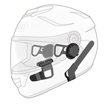 Sena 10U intercom with remote for Shoei full-face helmets