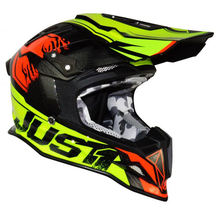 JUST1 - J12 Dominator Crash Helmet - Neon Lime