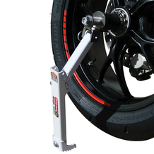 Single Sided Portable Motorcycle Jack In Use